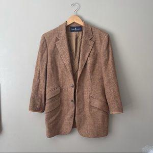 RALPH LAUREN POLO Vintage Tweed Equestrian Blazer